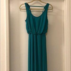 Long teal dress